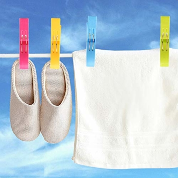 8 Riesen Wäscheklammern, Strandtuchklammern Starke Towel Clips Windfeste Klammern auf Strand Urlab Reisen Sonnenliegen Swimmbad Pool für Wäsche Strandtuch Badetuch Teppich in Leuchtenden Mix-Farben - 6