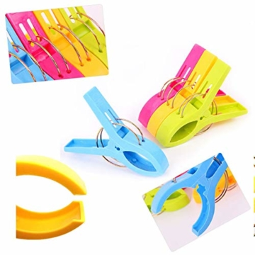 8 Stück Strandtuchklammern groß winddicht Kunststoff Badezimmer Handtuchklammern Quilt Klemmen Wäscheklammern für Zuhause Pool Stühle, Wäsche, Sonnenliegen und Sonnenliegen - 3