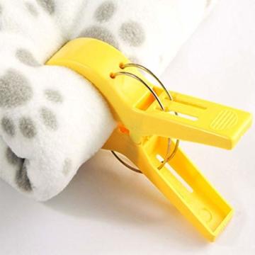 8 Stück Strandtuchklammern groß winddicht Kunststoff Badezimmer Handtuchklammern Quilt Klemmen Wäscheklammern für Zuhause Pool Stühle, Wäsche, Sonnenliegen und Sonnenliegen - 5