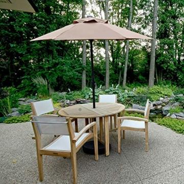 Aly Gartenschirm, 200 cm Rund Sonneschirm Sonnenschutz, Strandtisch Terrassenschirm Mit Nicht Verblassendem Belüftungsdeckel, 8 Stahlrippen - 2