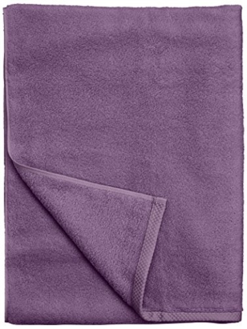 AmazonBasics - Handtuch-Set, schnelltrocknend, 2 Badetücher - Lavendelviolett, 100% Baumwolle - 4