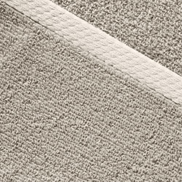 AmazonBasics - Handtuch-Set, schnelltrocknend, 2 Handtücher - Platingrau, 100% Baumwolle - 4