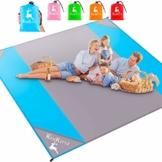 AMZOON 215 x 215 cm XXL Picknickdecke Wasserdicht Stranddecke Decke Für Ausflüge Beach Strandmatte - 1