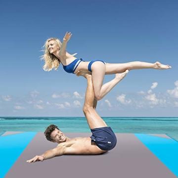 AMZOON 215 x 215 cm XXL Picknickdecke Wasserdicht Stranddecke Decke Für Ausflüge Beach Strandmatte - 5
