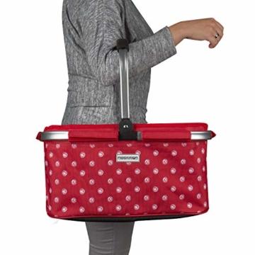 anndora Einkaufskorb 22 Liter Picknickkorb - rot weiß gepunktet - 3