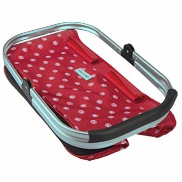 anndora Einkaufskorb 22 Liter Picknickkorb - rot weiß gepunktet - 8