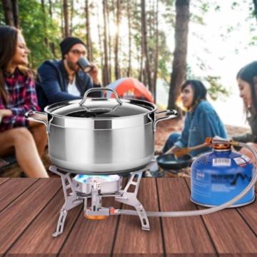 Ashine Gaskocher mit Piezozündung Campingkocher 3500W Camping gaskocher mit kartusche und Adapter für Camping Picknick - 7