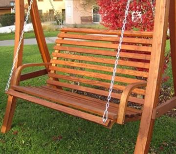 ASS Design Bank aus Holz Lärche für Hollywoodschaukel 2-Sitzer KUREDO (ohne Gestell!!!) von - 7