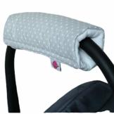Babymajawelt® Armpolster Armschoner Griffpolster Gurtpolster für Babyschale MaxiCosi Römer (Punkte (grau)) - 1