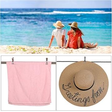 Beach Handtuch Clips,Strand Handtuch Clips Rostfreier Stahl Winddicht für tägliche Wäsche Großes Strandtuch Schwere Badetuch Dicke Teppich 12pack 8.5cm - 5