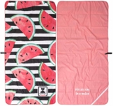 BEARFOOT Mikrofaser Handtuch mit Tasche | schnelltrocknende Handtücher - Microfaser Saunatuch, XXL Strandtuch, Badetuch groß, Reisehandtuch | Reise, Strand, Sauna (Wassermelone 200x90) - 1