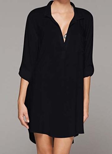 Belloxis Strandkleid Damen Sommer Blusenkleid Hemdkleid Strand Kimono - 3