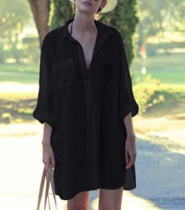 Belloxis Strandkleid Damen Sommer Blusenkleid Hemdkleid Strand Kimono - 5