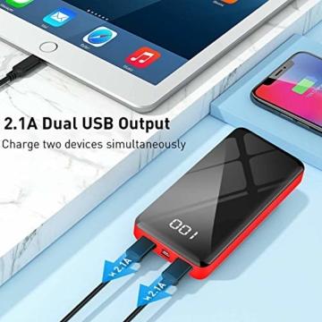 Bextoo powerbank 30000mah Große Kapazität Externe Akkus LCD Display Batterie Pack 2 Eingängen 2 Ausgängen Tragbares Ladegerät Handy akkupack USB C Power Bank für iPhone, Samsung Huawei, iPad - 4