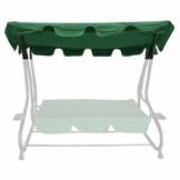 bonsport Ersatzdach für Hollywoodschaukel mit Volant - Dach Sonnendach für 2-Sitzer und 3-Sitzer, grün - 1