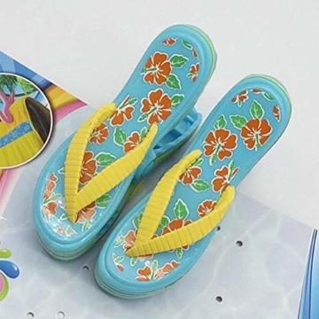 bozitian Wäscheklammern Badetuch Klammern Flip Flop Strandtuch Clips Boca Stil - Zwei Paar Flip Flops - Für Tägliche Wäsche Großes Strandtuch Handtuchclips - 2 STÜCKE - 3