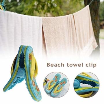 bozitian Wäscheklammern Badetuch Klammern Flip Flop Strandtuch Clips Boca Stil - Zwei Paar Flip Flops - Für Tägliche Wäsche Großes Strandtuch Handtuchclips - 2 STÜCKE - 5