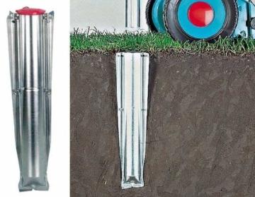 Brabantia 311444 Bodenanker für Wäschespinne 45 mm aus Metall - 5