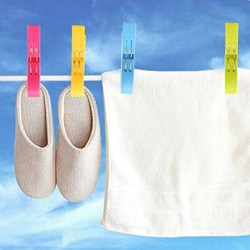 BSTHP Strandtuchklammern, groß, Winddicht, Kunststoff, für Badezimmer, Bettdeckenklammern, Wäsche, Sonnenbetten und Sonnenliegen, 8 Stück - 7