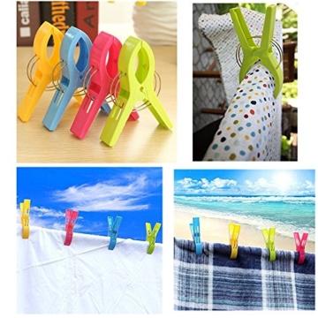 Byou Handtuch Klammer,Strandtuch Clips Kunststoff Große Wäscheklammern für Tägliche Wäsche Strandtuch Badetuch Bettwäsche und Dicke Kleidung 8packs - 4