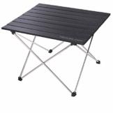 Camping Tisch mit Aluminium-Tischplatte, Campingtisch Faltbar Camping Klapptisch zusammenklappbar, Campingtisch Klein mit Tasche,Faltbarer Camping tische für Picknick,Strand,nützlich zum Essen- (Groß) - 1