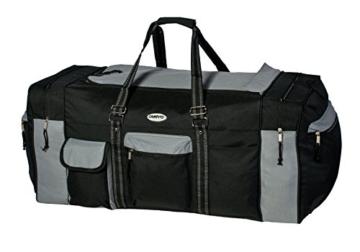Campito Reisetasche, 80cm lang, 130 Liter, schwarz-grau - 2