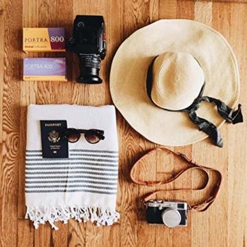 Captain&Mermaid® Premium Strandtuch aus 100% Baumwolle Oeko-TEX® | Badetuch | Handtuch | Yoga | Peshtemal | Sauna Tuch | Hamam Tuch | leicht, dünn & extra saugstark (Rosa) - 5