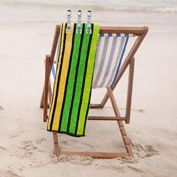 Coideal 10 Stück Edelstahl Strand Handtuch Clips Große hängende Stöpsel Windbeständig für schwere Kleidung (11 cm) - 2
