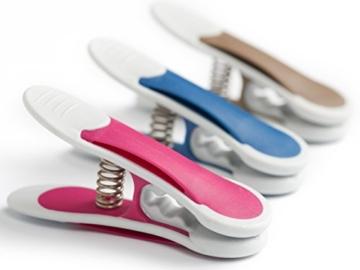 culiclean Maxi Clips (12 Stück, blau-violett-braun) Premium Wäscheklammern für schwere Stücke, starken Wind und vieles mehr - 2
