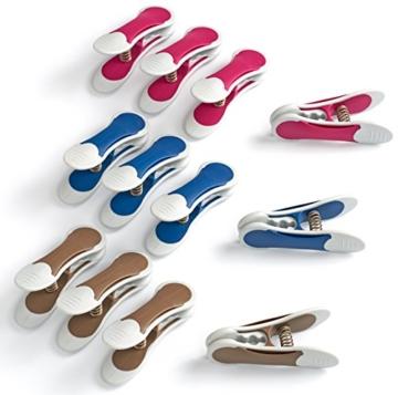 culiclean Maxi Clips (12 Stück, blau-violett-braun) Premium Wäscheklammern für schwere Stücke, starken Wind und vieles mehr - 4