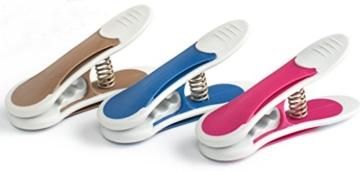 culiclean Maxi Clips (12 Stück, blau-violett-braun) Premium Wäscheklammern für schwere Stücke, starken Wind und vieles mehr - 1
