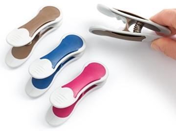 culiclean Maxi Clips (12 Stück, blau-violett-braun) Premium Wäscheklammern für schwere Stücke, starken Wind und vieles mehr - 5