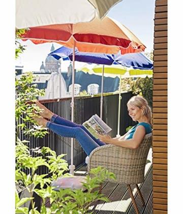 Dehner Gute Wahl Sonnenschirm Saturn, Ø 200 cm, Höhe 180 cm, Polyester, blau - 2