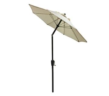 Dehner Sonnenschirm Vido, Ø 150 cm, Aluminium/Polyester, beige - 4
