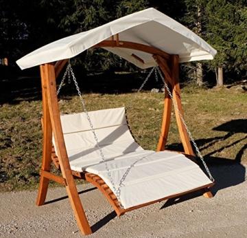 Design Hollywoodliege Doppelliege Hollywoodschaukel Aruba/Macao aus Holz Lärche mit Dach von AS-S, Farbe:Aruba - 3
