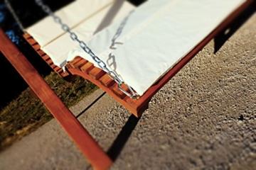 Design Hollywoodliege Doppelliege Hollywoodschaukel Aruba/Macao aus Holz Lärche mit Dach von AS-S, Farbe:Aruba - 5