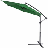 Deuba Alu Ampelschirm Ø330cm grün mit Kurbelvorrichtung UV-Schutz 40+ Aluminium Wasserabweisende Bespannung - Sonnenschirm Gartenschirm Marktschirm - 1