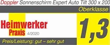 Doppler EXPERT Auto Tilt – Rechteckiger Sonnenschirm für Balkon oder Terrasse – Knickbar – ca. 300x200 cm – Anthrazit - 6
