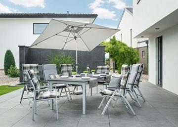Doppler EXPERT Auto Tilt – Rechteckiger Sonnenschirm für Balkon oder Terrasse – Knickbar – ca. 300x200 cm – Anthrazit - 8