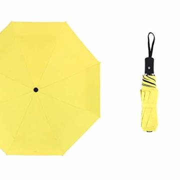 Faltbar Sonnenschirm Rain Regenschirm Öffnen Golf Schirme Überdachung Belüftet Winddicht wasserdichte Doppeltem Verwendungszweck UV-Faltschirm (Gelb) - 1
