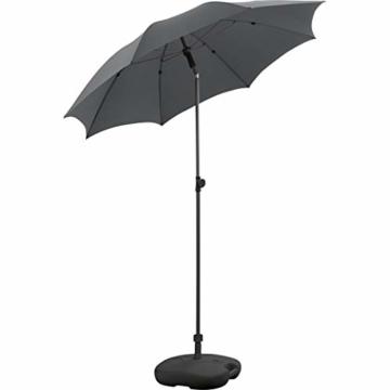 FARE Sonnenschirm Modern Gr. M - 177cm Durchmesser - UV-Schutz 50+ für Balkon Garten Terrasse Sommer - Titan-Finish inkl. Drehfeststeller Sicherheitsschieber Tragetasche (Aprikose) - 4