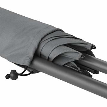 FARE Sonnenschirm Modern Gr. M - 177cm Durchmesser - UV-Schutz 50+ für Balkon Garten Terrasse Sommer - Titan-Finish inkl. Drehfeststeller Sicherheitsschieber Tragetasche (Aprikose) - 6
