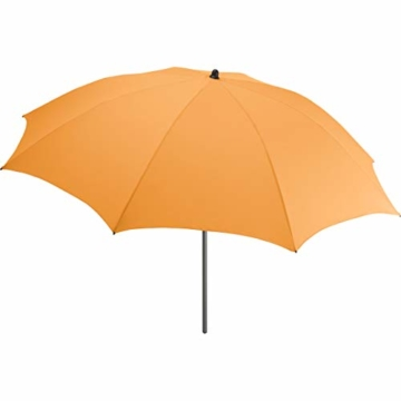 FARE Sonnenschirm Modern Gr. M - 177cm Durchmesser - UV-Schutz 50+ für Balkon Garten Terrasse Sommer - Titan-Finish inkl. Drehfeststeller Sicherheitsschieber Tragetasche (Aprikose) - 1