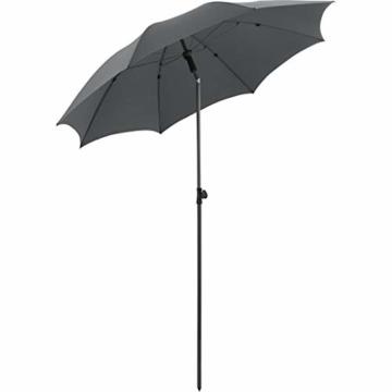 FARE Sonnenschirm Modern Gr. M - 177cm Durchmesser - UV-Schutz 50+ für Balkon Garten Terrasse Sommer - Titan-Finish inkl. Drehfeststeller Sicherheitsschieber Tragetasche (Aprikose) - 2