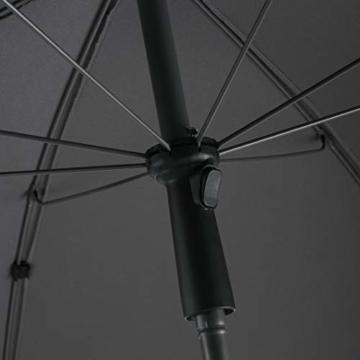 FARE Sonnenschirm Modern Gr. M - 177cm Durchmesser - UV-Schutz 50+ für Balkon Garten Terrasse Sommer - Titan-Finish inkl. Drehfeststeller Sicherheitsschieber Tragetasche (Aprikose) - 3