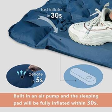 FEELLE Isomatte Camping Selbstaufblasbare, Ultraleichte Aufblasbare Luftmatratze mit Kissen Schlafmatte Campingmatratze für Camping, Reise, Outdoor, Wandern, Strand - 3
