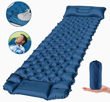FEELLE Isomatte Camping Selbstaufblasbare, Ultraleichte Aufblasbare Luftmatratze mit Kissen Schlafmatte Campingmatratze für Camping, Reise, Outdoor, Wandern, Strand - 1