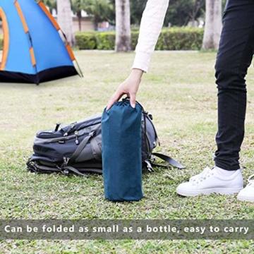 FEELLE Isomatte Camping Selbstaufblasbare, Ultraleichte Aufblasbare Luftmatratze mit Kissen Schlafmatte Campingmatratze für Camping, Reise, Outdoor, Wandern, Strand - 7