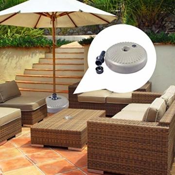 flouris Umbrella Base Stand Sonnenschirmständer Kunststoff Schirmständer Befüllbar mit Wasser Balkonschirmständer für Rohr 38mm - 5