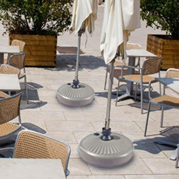 flouris Umbrella Base Stand Sonnenschirmständer Kunststoff Schirmständer Befüllbar mit Wasser Balkonschirmständer für Rohr 38mm - 7